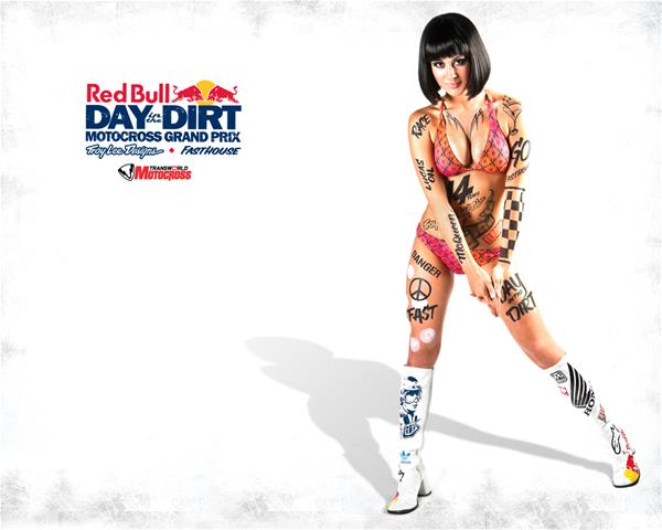 Red Bull Day in the Dirt Pin Up