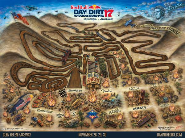 Red Bull Day in the Dirt Track Map