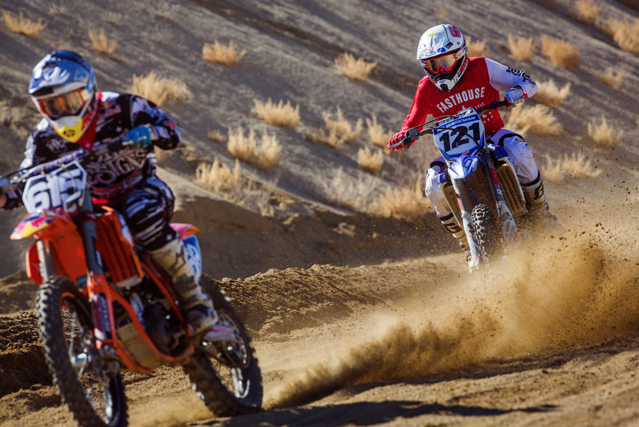 R.J. Wageman giving chase to TLD's Justin Hoeft.