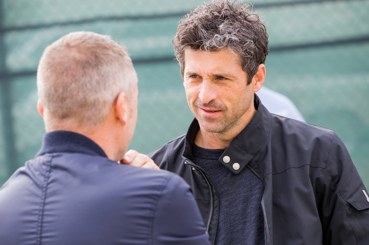 Actor, Patrick Dempsey, checking out the show.