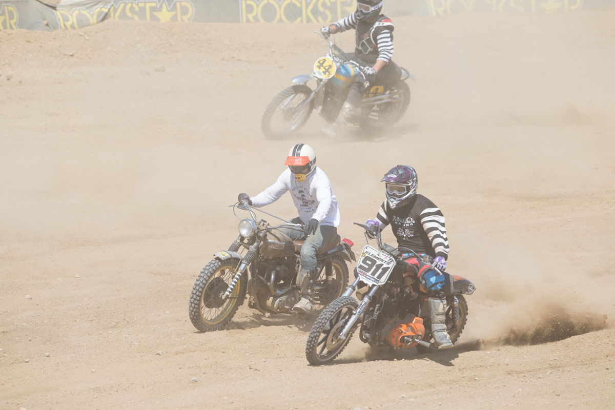 Some of the bikes were a little crazy for a dirt track.