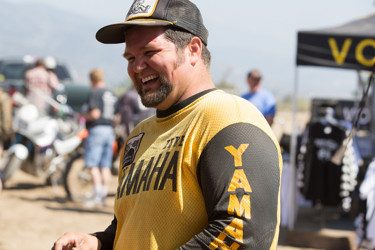 "Greg ""Zeke"" Landers gave it his all in both Vintage Expert races, and clearly had a good time."