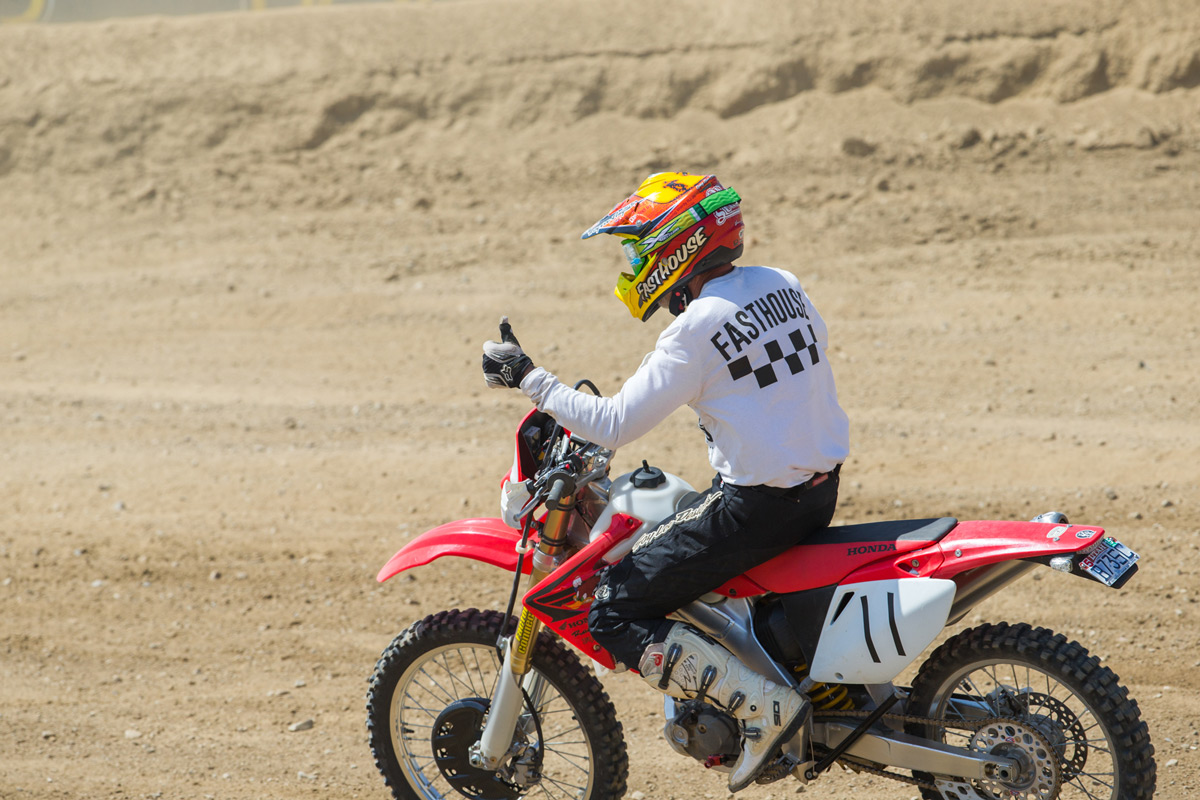Bill Lutes also competed in the Bomber Class aboard his Honda dual sport, taking home second behind Zeke.