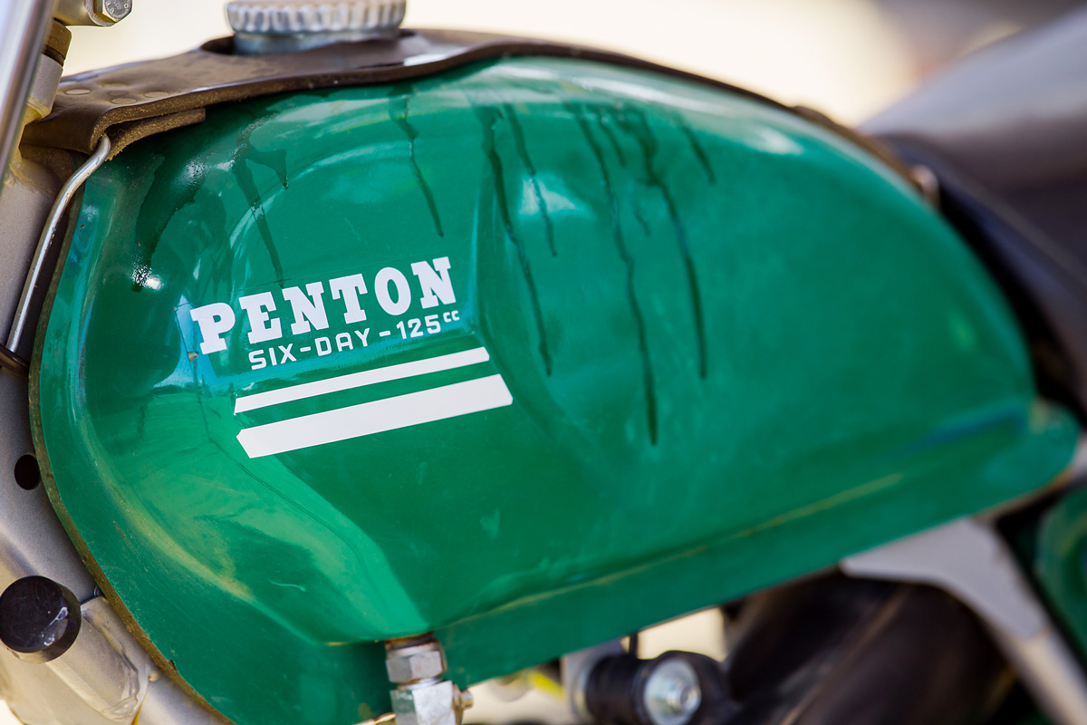 Bill Lutes raced his Penton Six Days 125, which garnered a lot of attention in the pits.