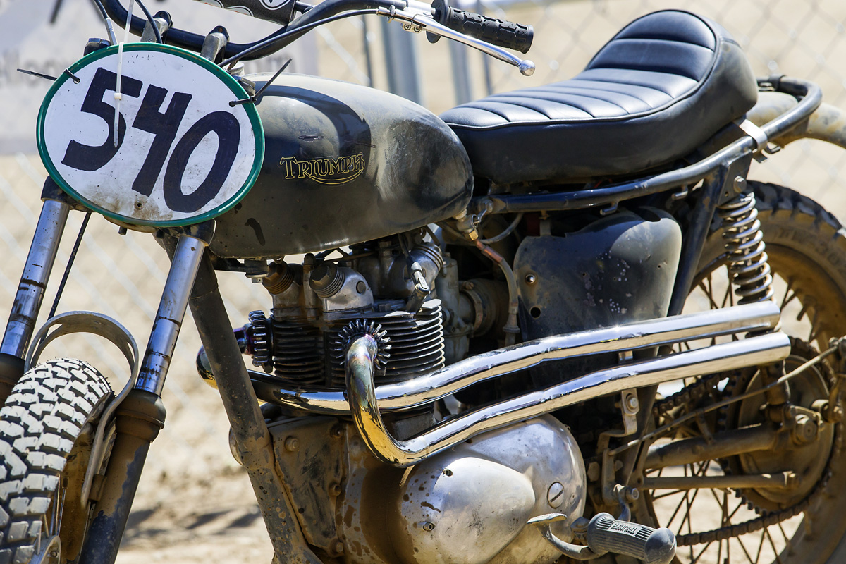 Old Triumphs are abundant at a Hell On Wheels event.