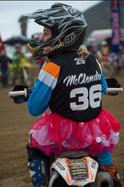 Not only does she ride as often as possible, but Brooklyn is also a regular at the annual Red Bull Day In The Dirt.