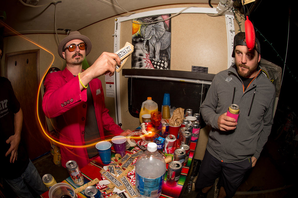 Don't threaten Wacker with a good time. His trailer at this year's Red Bull Day In The Dirt was party central.