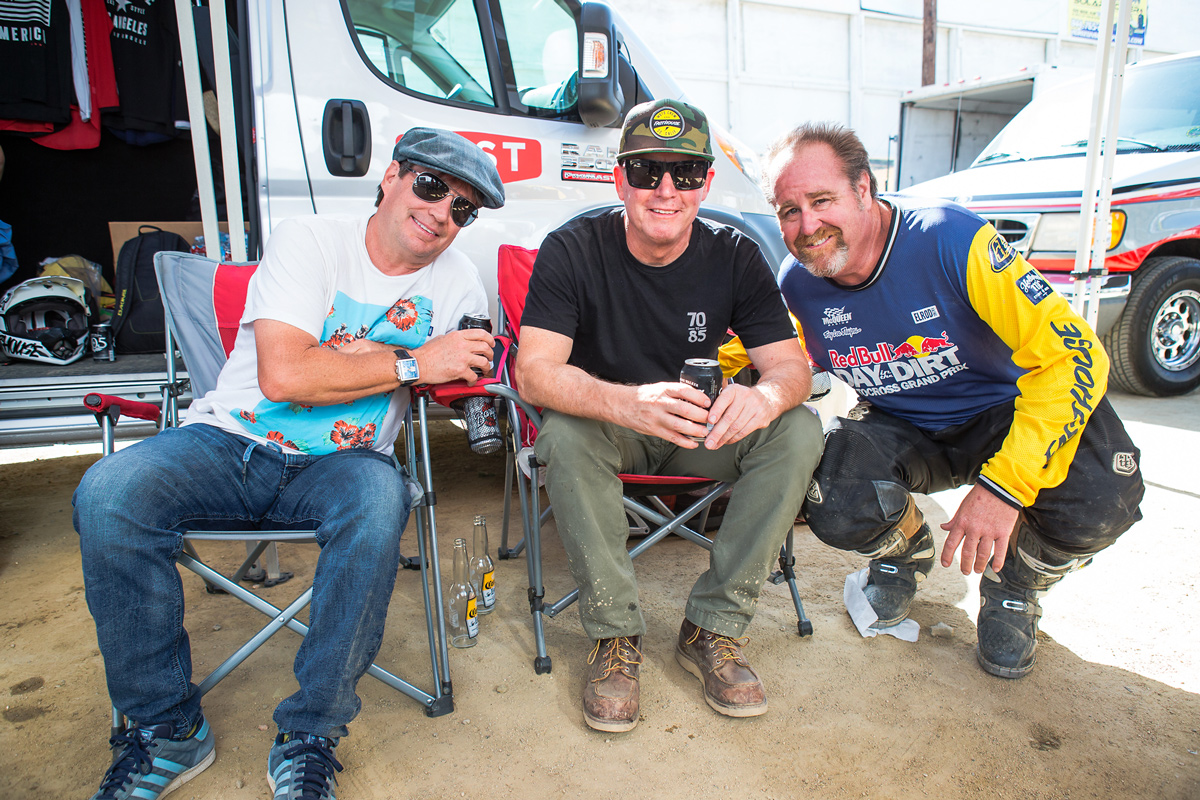 "Troy Lee, Kenny Alexander, and Billy ""Jetboat"" Hammon."