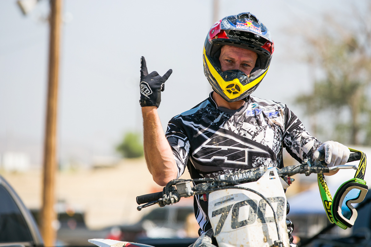 Clay Cullen had some fun on his dirt bike in honor of Tyler.