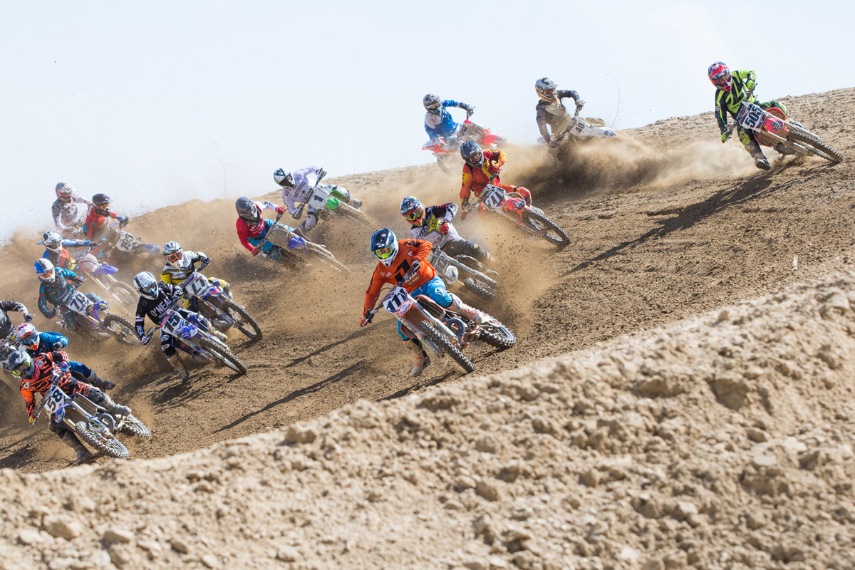 Sean was buried back in the pack during the second moto start.
