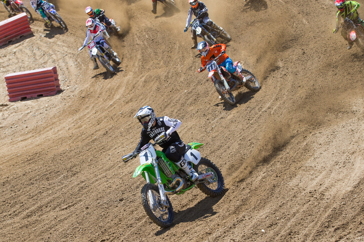 Sean pulled a massive holeshot in the first moto.