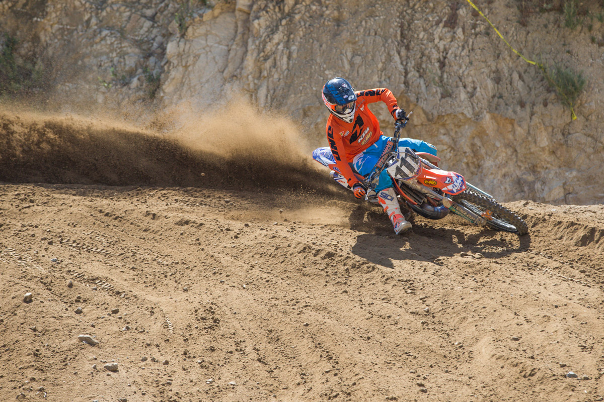 KTM's Michael Sleeter took home the overall with a 1-3 moto tally.