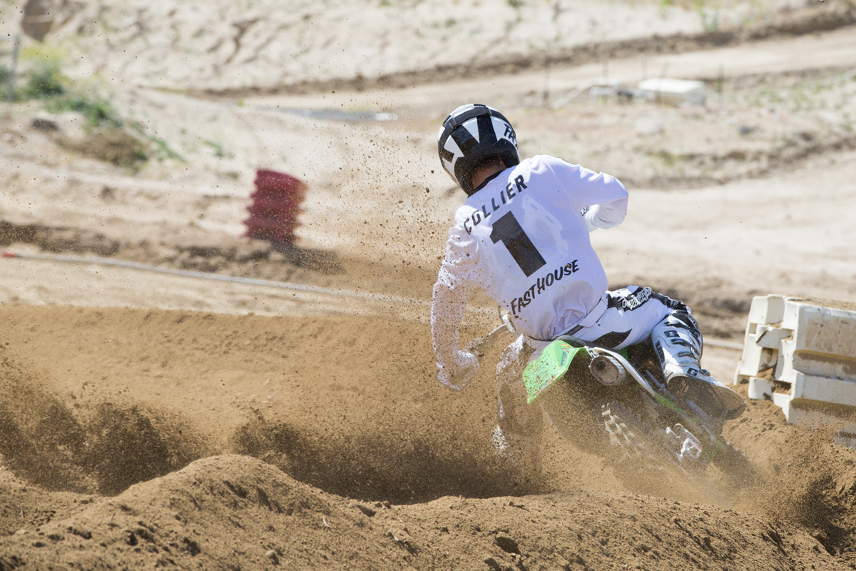 This was all Sean's competition saw of him in the second moto.
