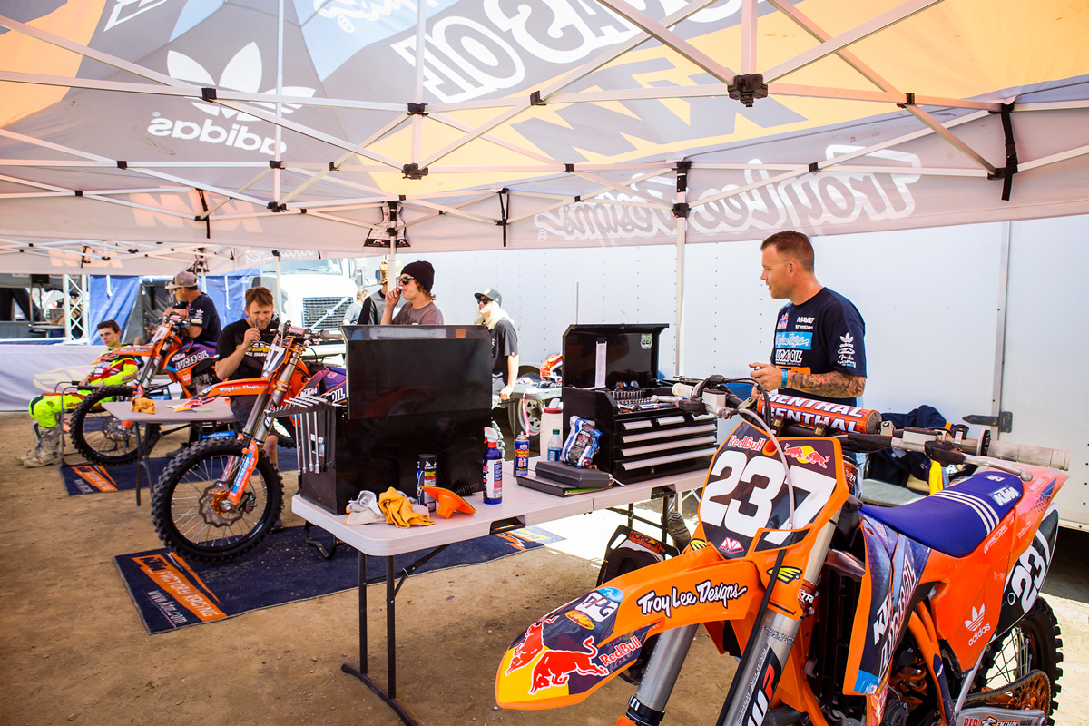 The Troy Lee Designs/Lucas Oils/Red Bull/KTM team had a contingent of riders competing in the Cal Classic.