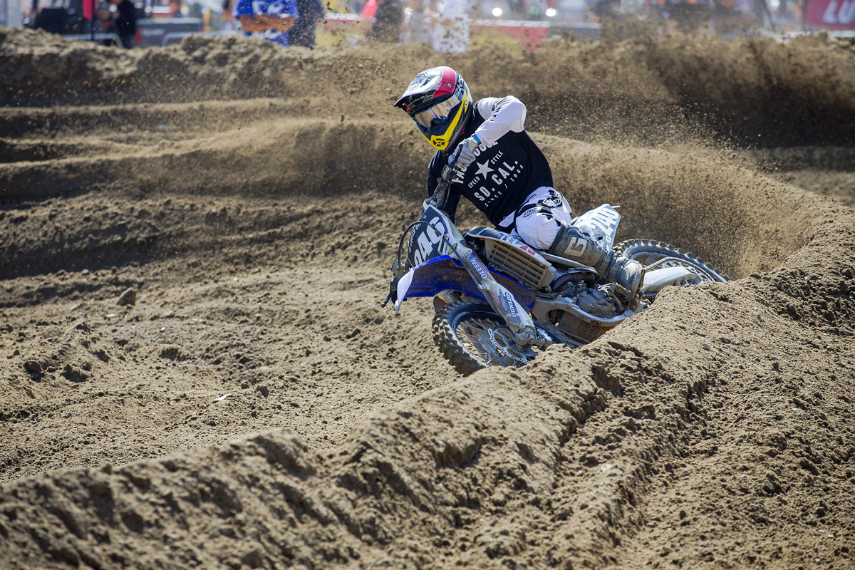 Against the more powerful 450 machines, Lil' Will put the power to the ground aboard his mostly stock YZ250F.