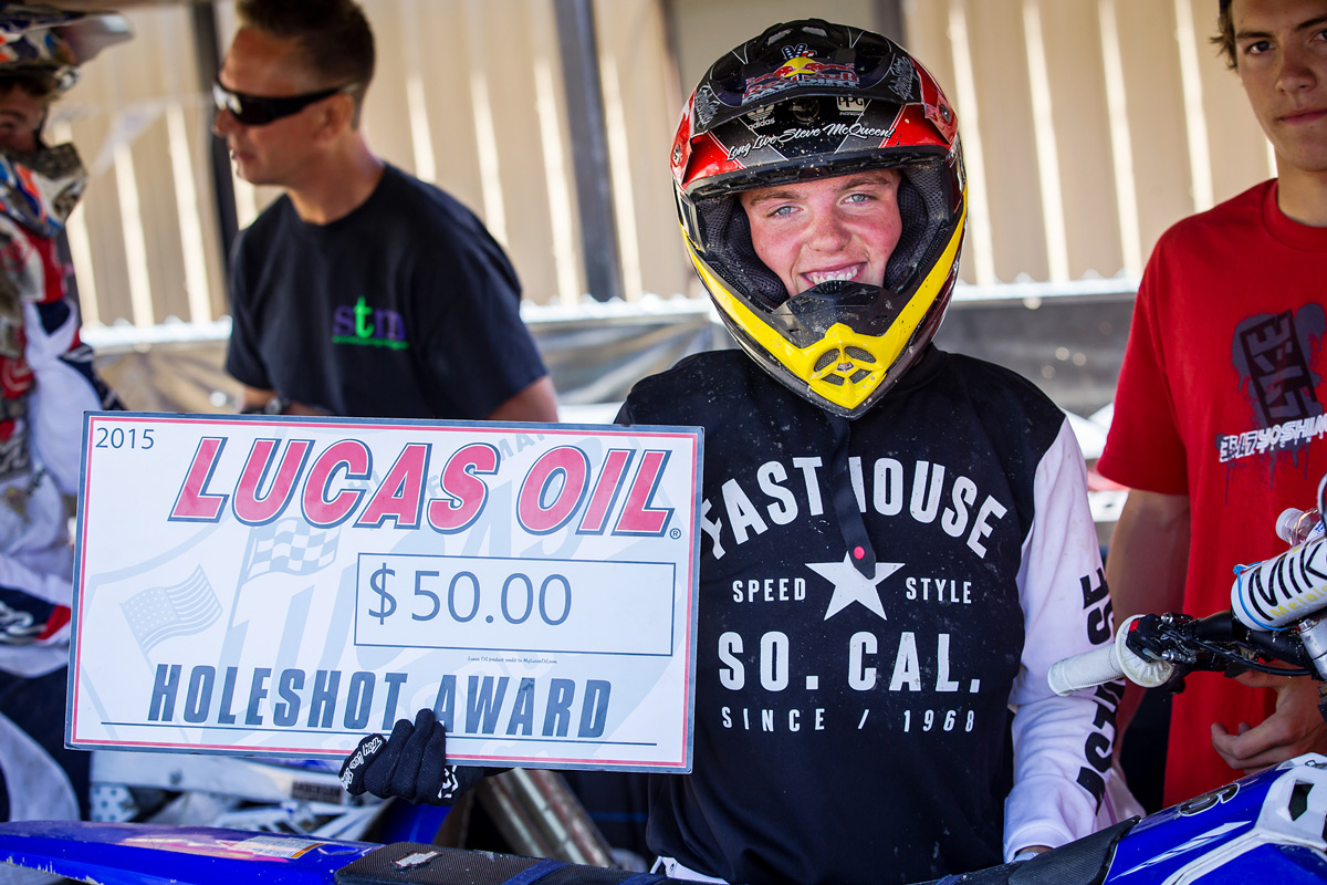 Lil' Will took home three of these holeshot awards.