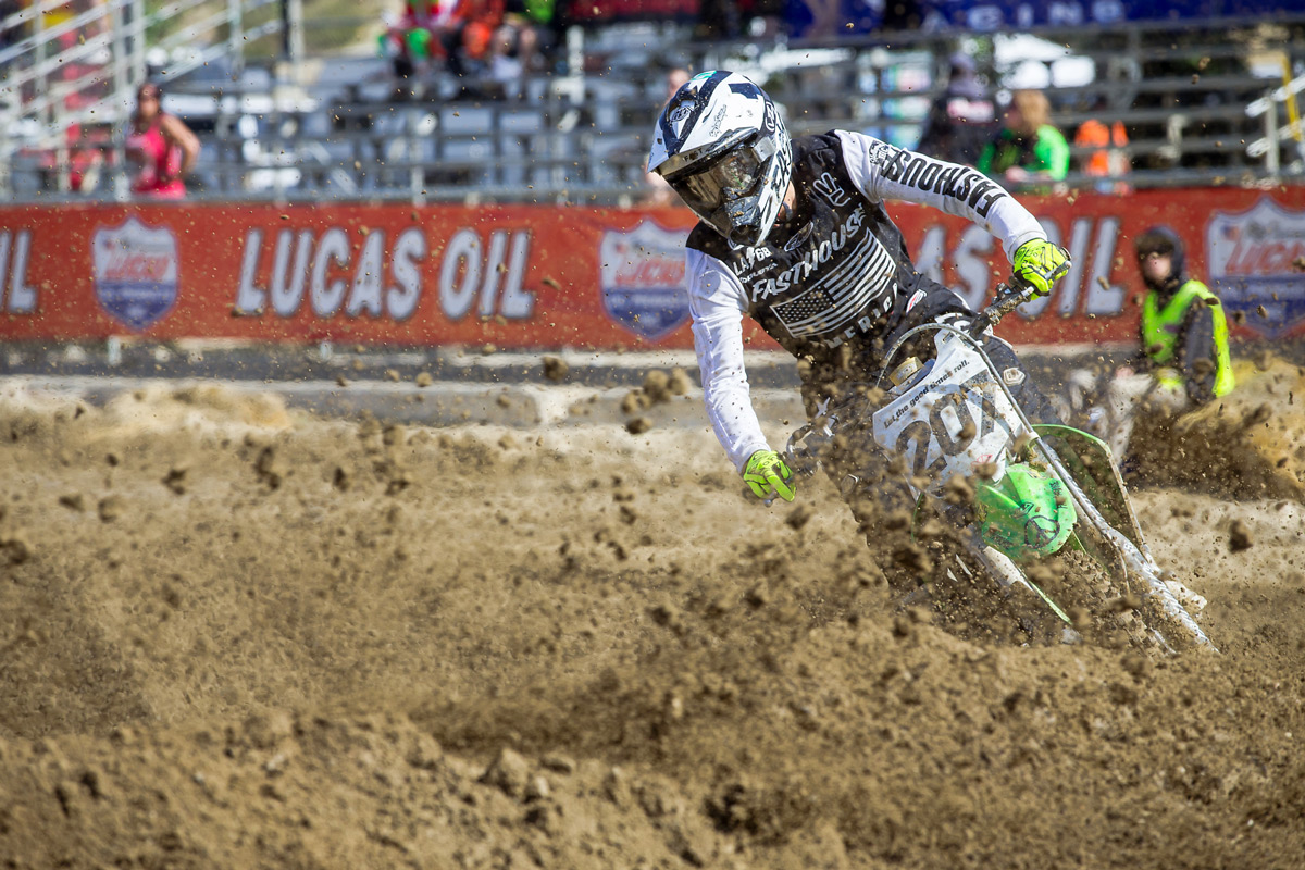 Sean Collier had to eat roost and come from behind in the 450 Pro Sport class. He finished sixth.