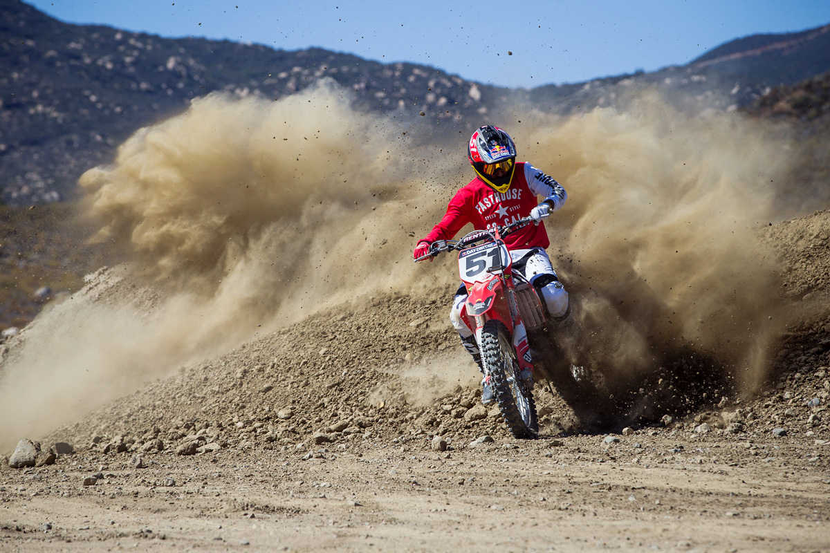 Since the crew stayed passed closing to camp, berm shots like these were easy.