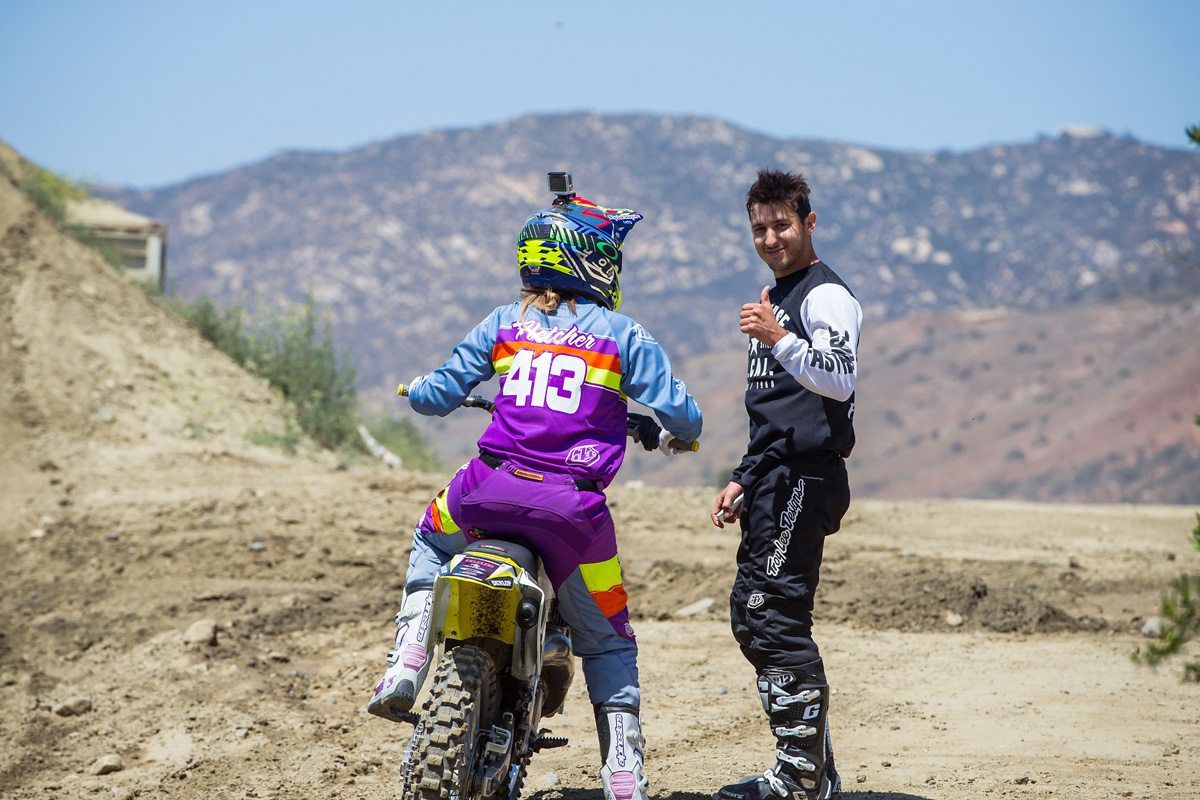 Ricky Diaz and his girlfriend Kailie Fletcher taking a break from motos.