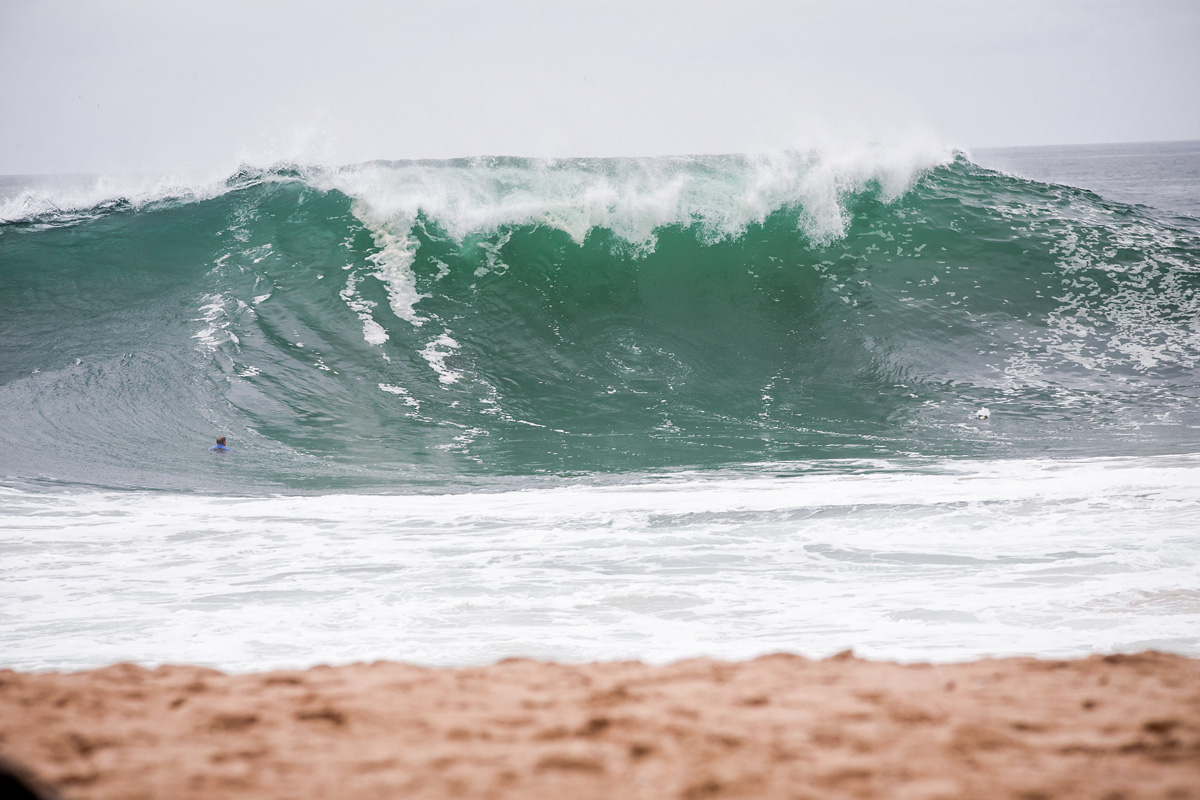 Waves measuring 15-18 feet hit SoCal beaches over the past two days.