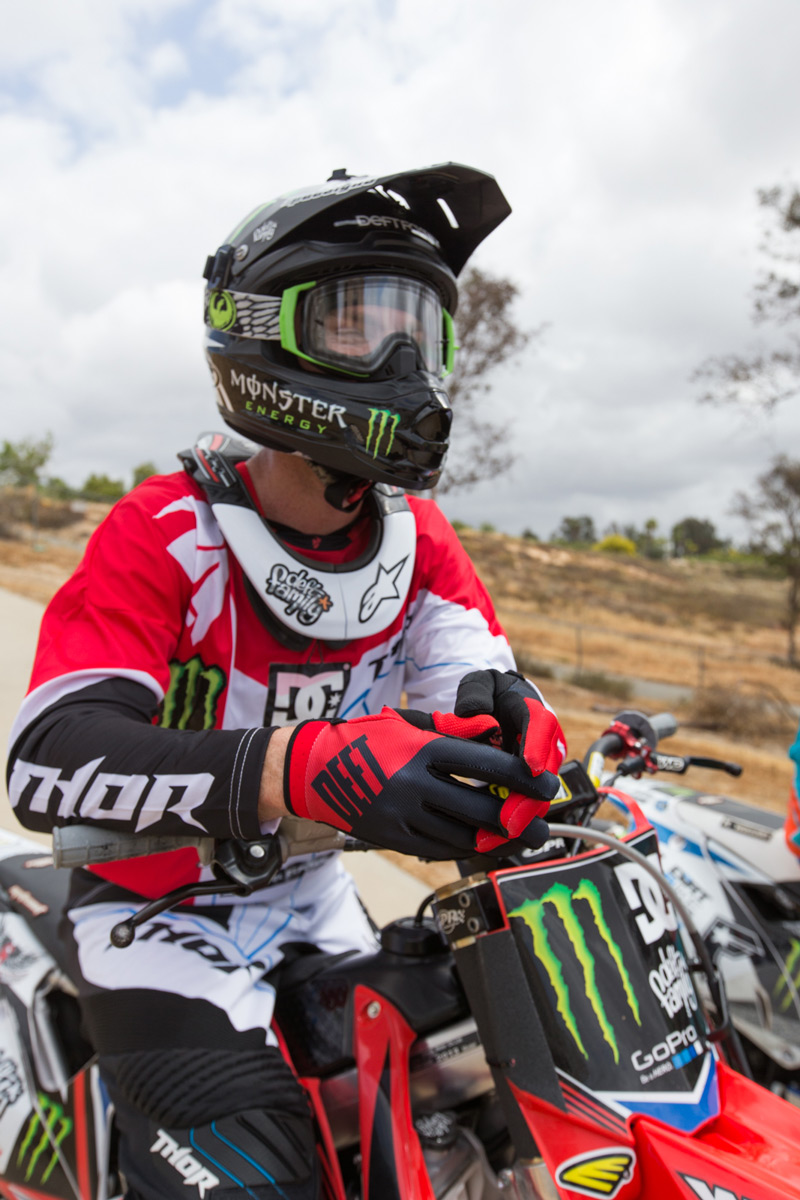 While still continuing to ride, Nate Adams also produces the popular Deft Family gloves.