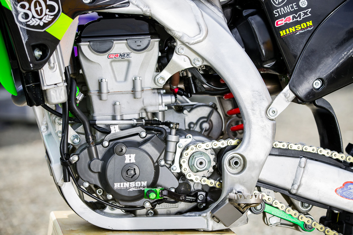 C4MX massages the KX450F powerplant to coax out the maximum amount of power.