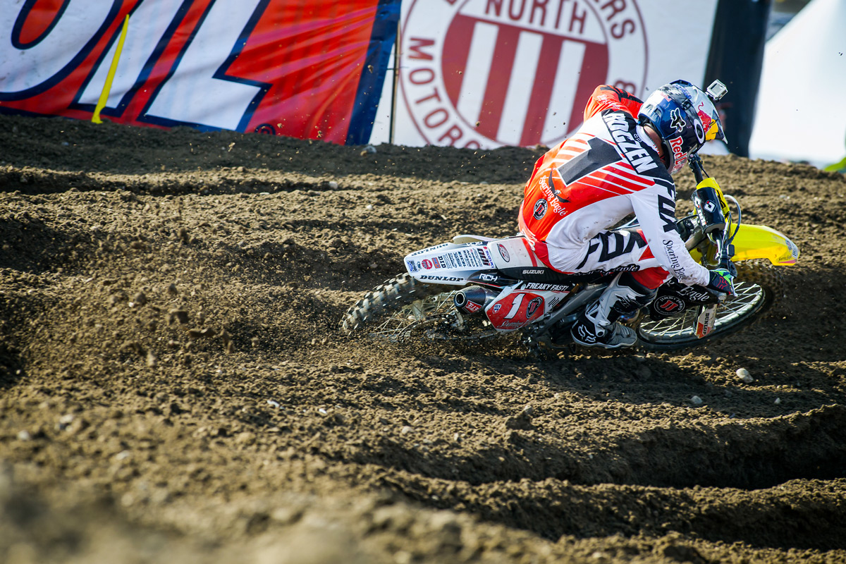 Defending Champ Ken Roczen gutted out a fifth place in the second moto even with a fractured vertebra.