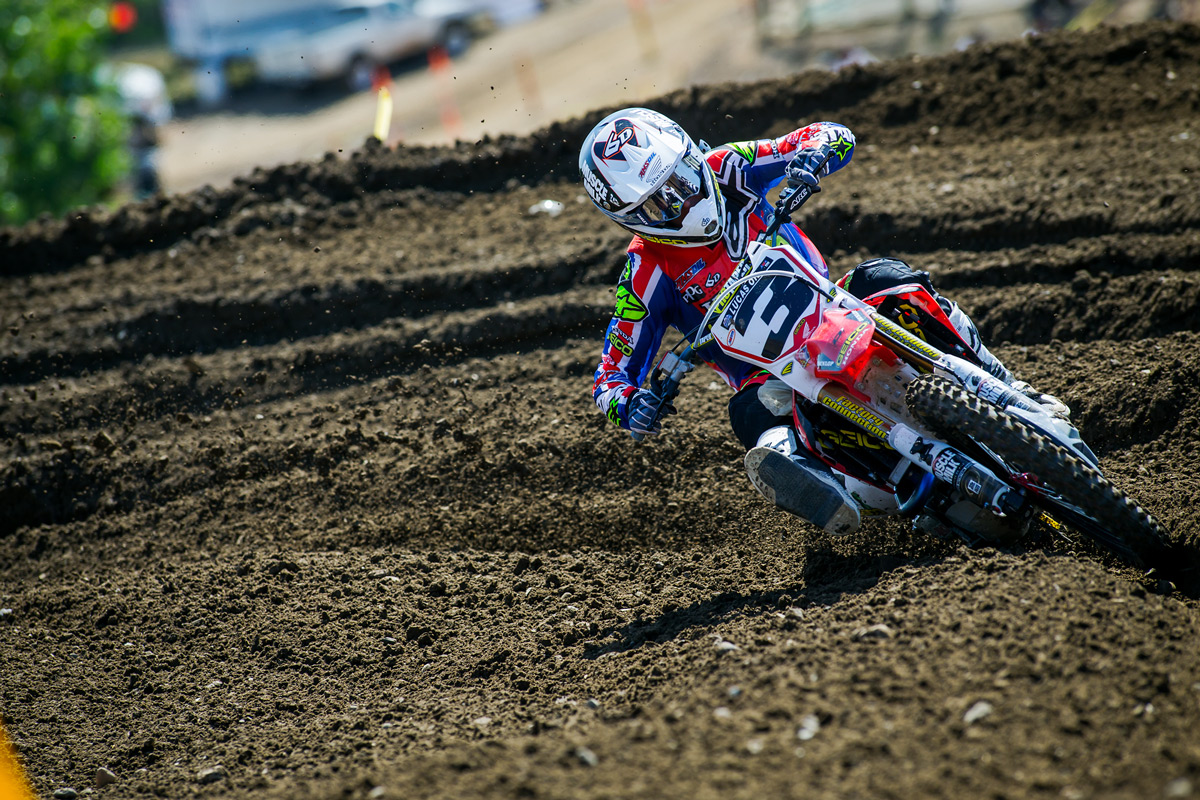 Sean witnessed Eli Tomac's dominating performance firsthand on the track.