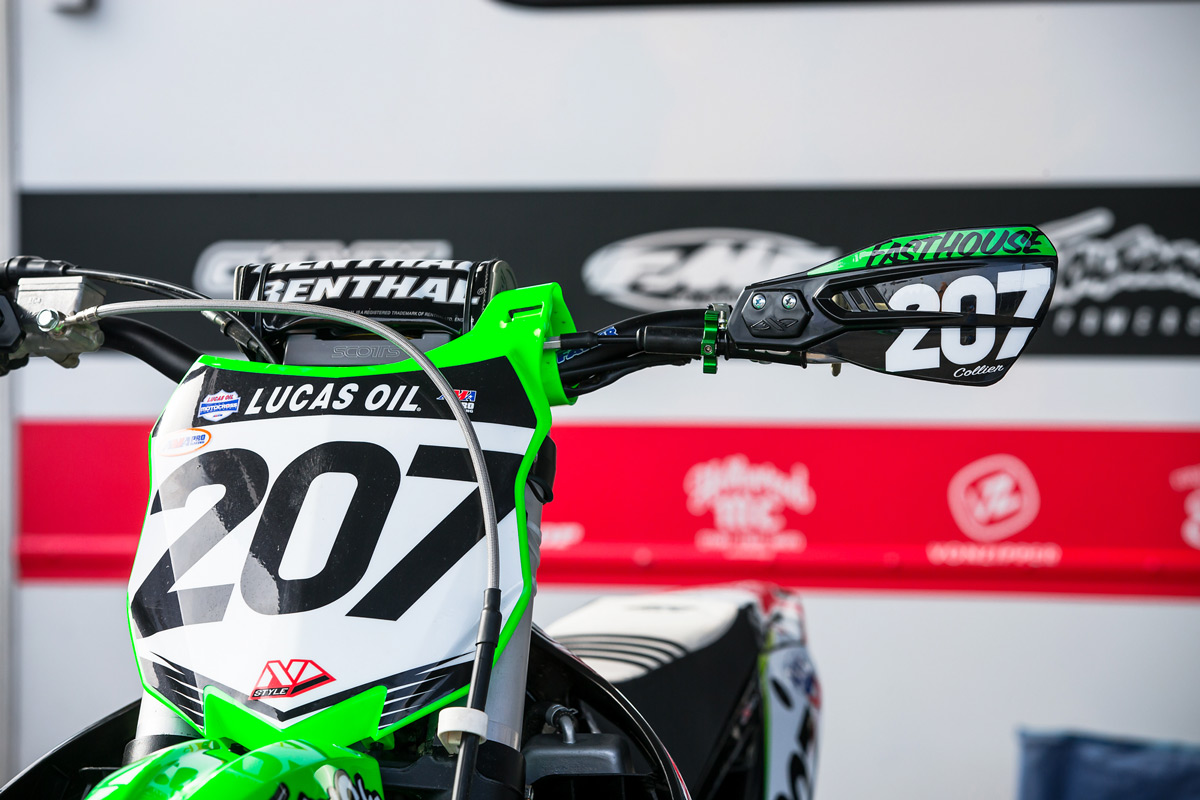 Handguards are important in outdoor Nationals. The roost can be brutal.