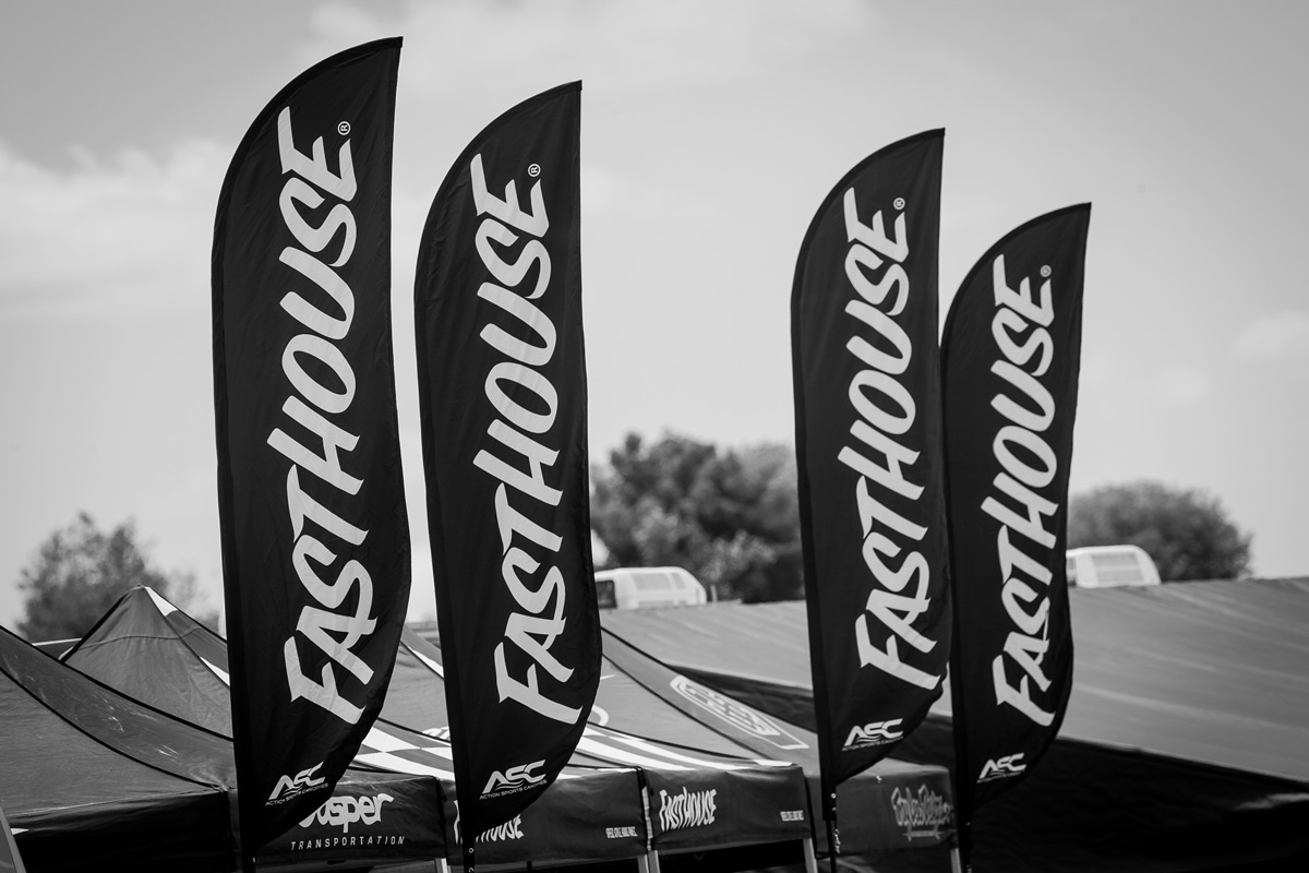 Look for these flags to find your way to the Fasthouse pits at Glen Helen this coming weekend.