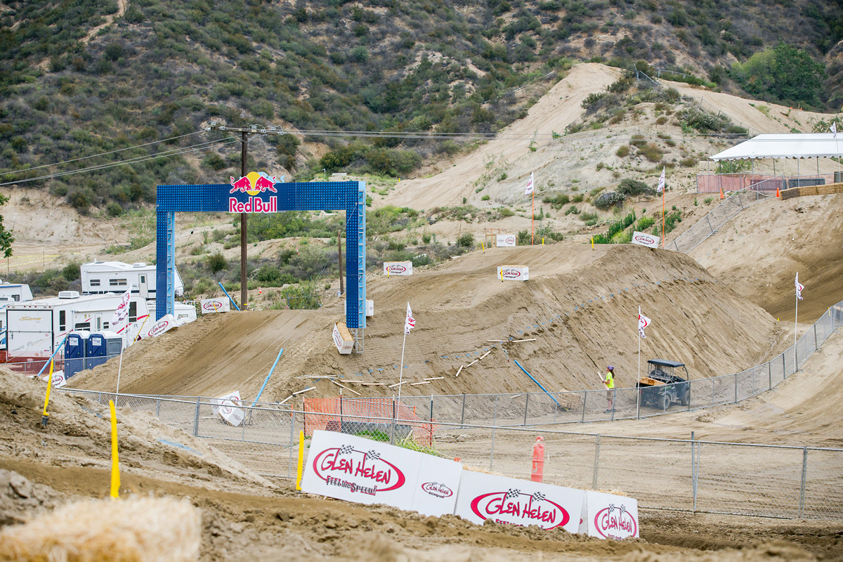 While not as big as previous years at Glen Helen, this jump is still daunting and will undoubtedly be entertaining on Saturday.