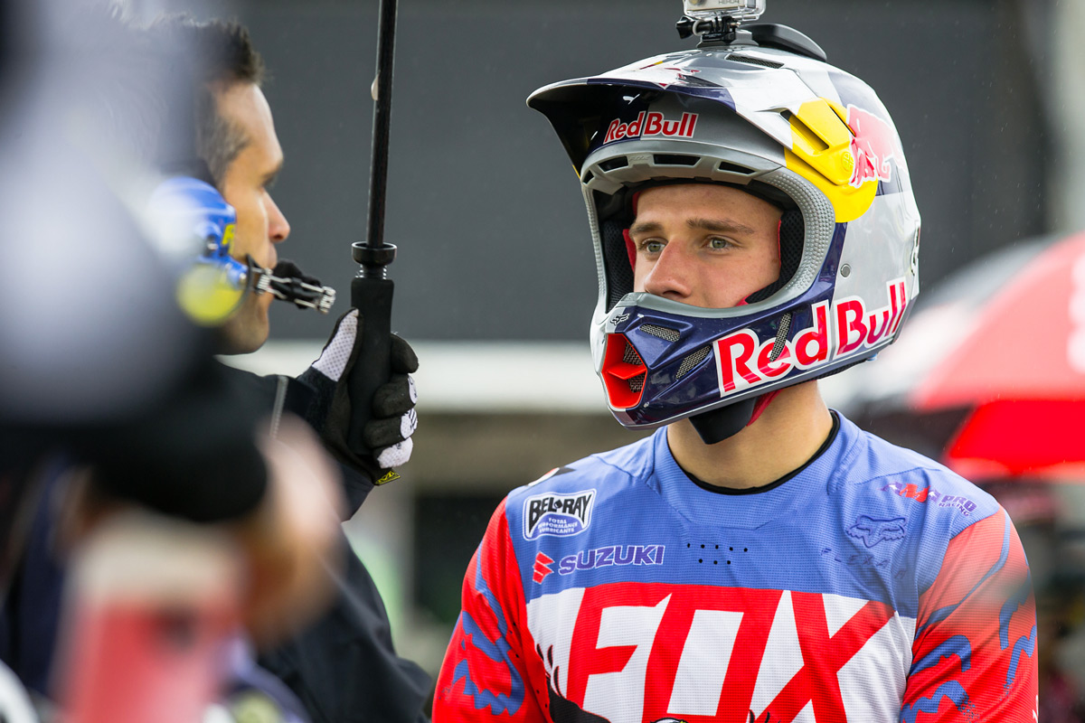 Defending Champion Ken Roczen had some bad luck throughout the day.