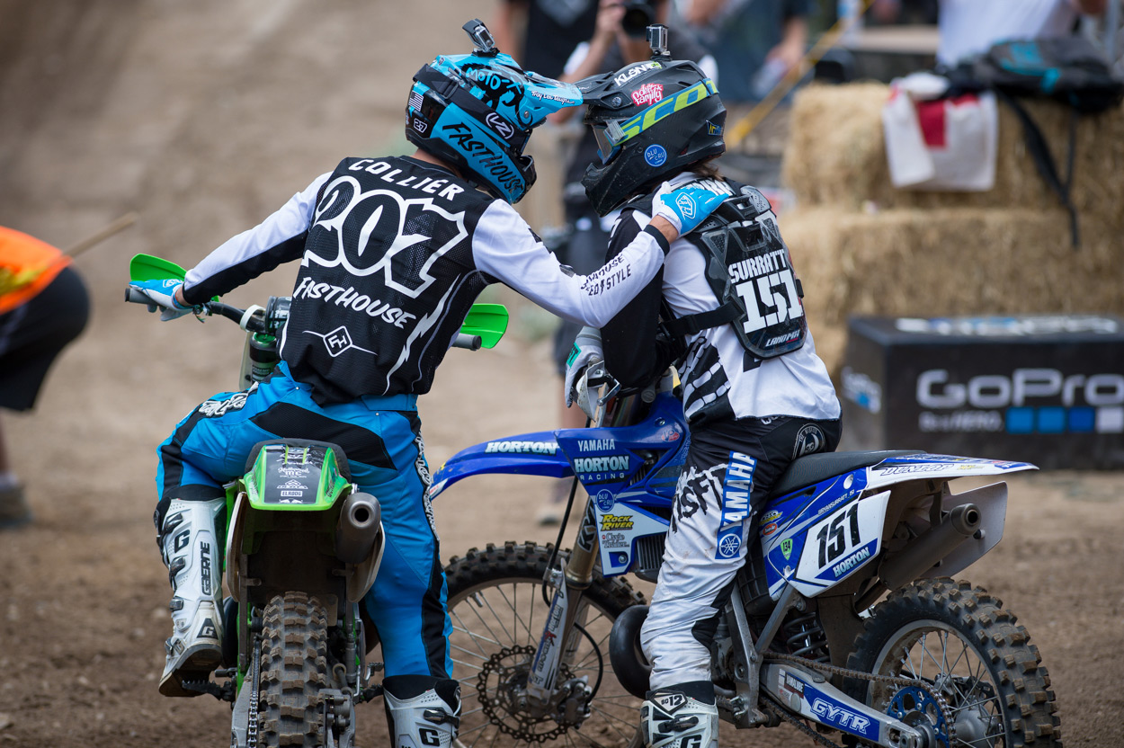 Surratt and Collier following their two-stroke battle.