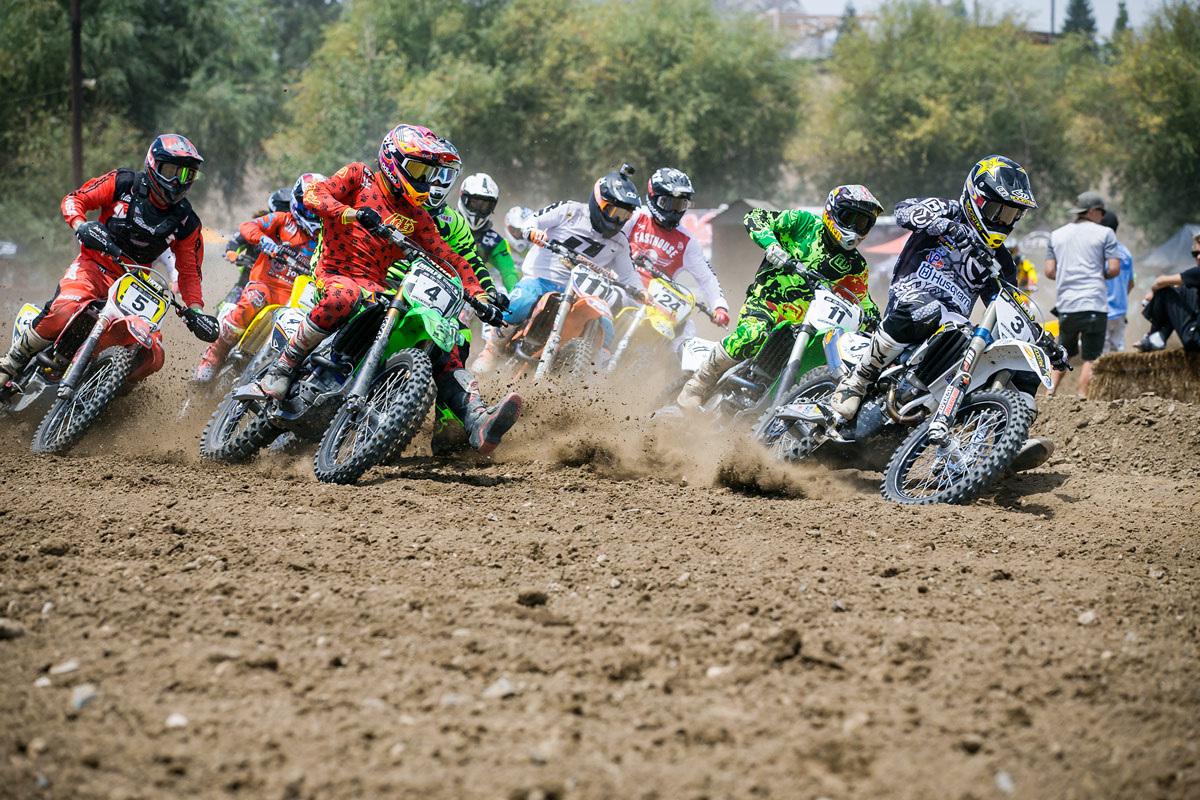 Mike Brown (3) took the holeshot and was consistently one of the fastest riders on the track.