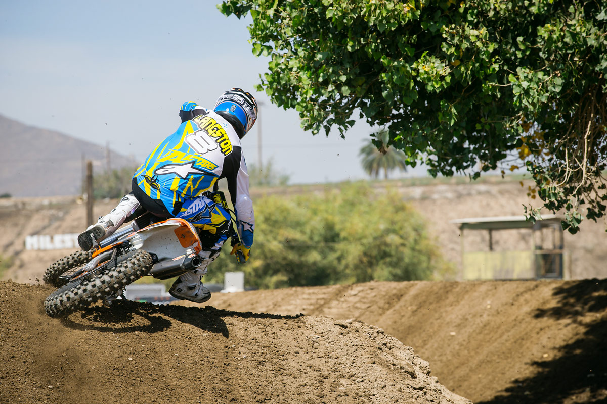 Grant Langston can still twist a throttle.