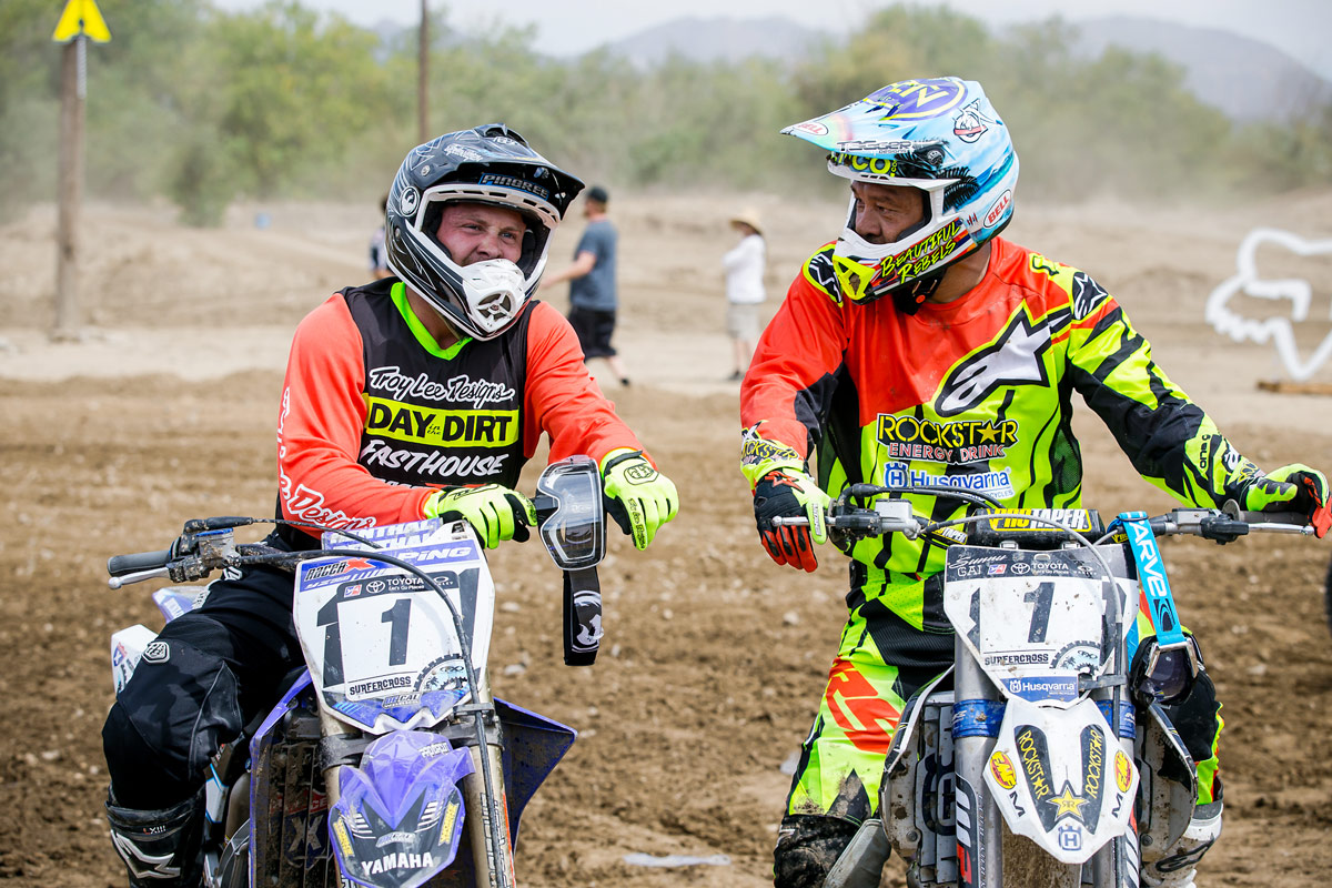 Racer X's David Pingree (left) and Sunny Garcia (right) were paired up for the event.