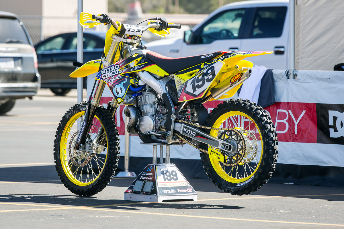 Travis Pastrana was a fan favorite last year aboard his scary fast 500cc two-stroke.