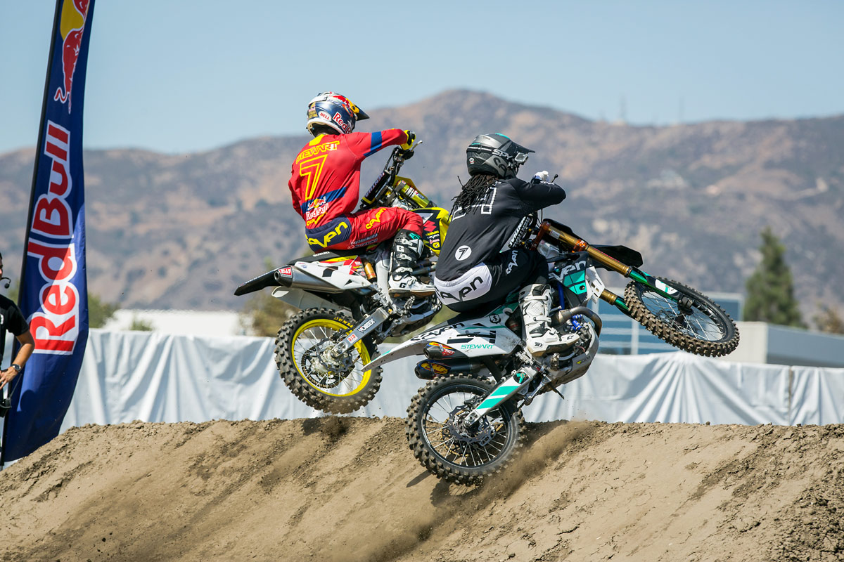 Brothers James and Malcolm Stewart went head-to-head.