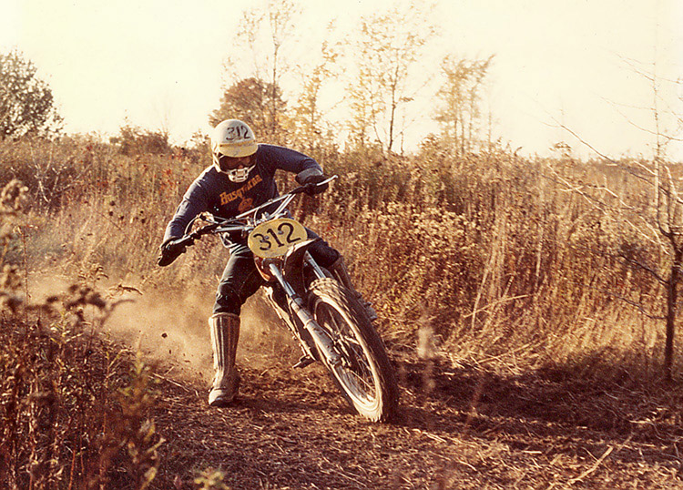 Frank's dad originally got him interested in motocross.