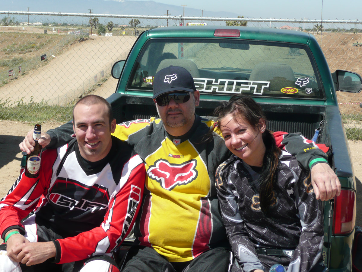 Motocross has always been a family sport for him. His dad and sister shared the same passion.