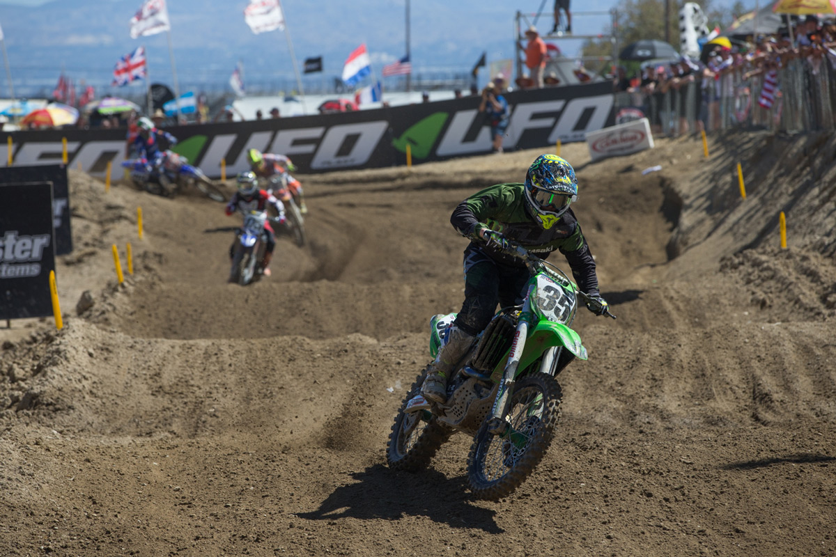 Josh Grant took the win in the second moto to finish second overall.