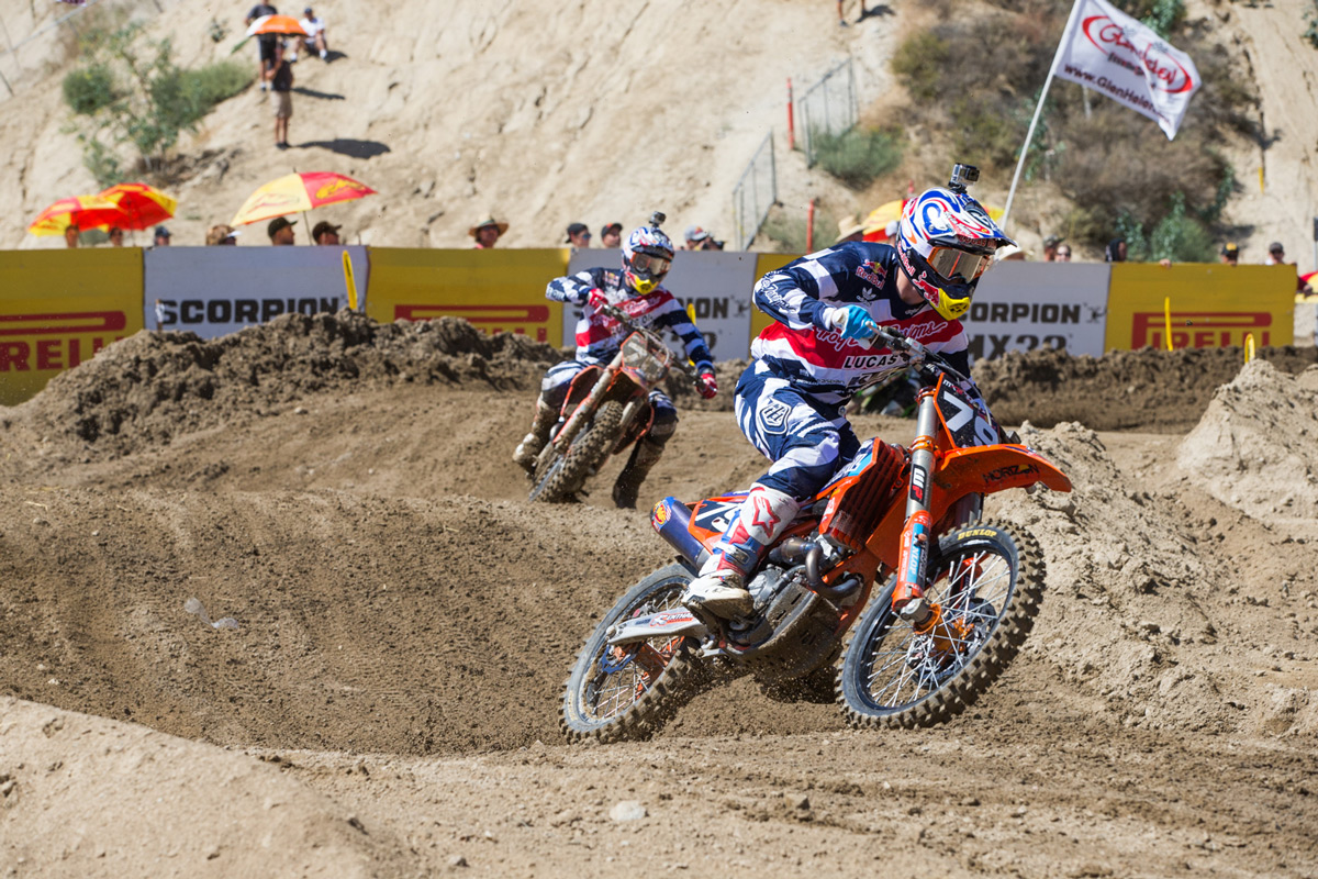 Jessy Nelson and Shane McElrath went 1-2 in the MX2 overall standings.