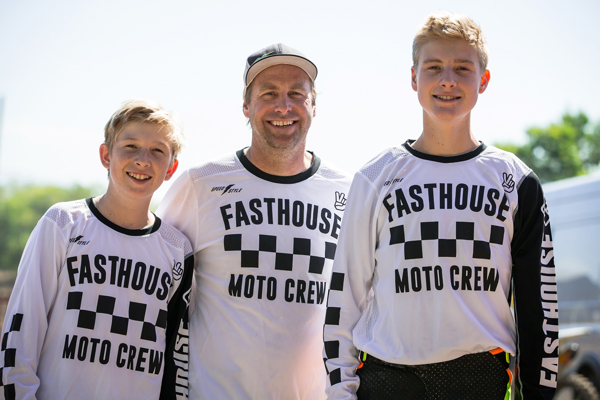 Motocross is a family sport and the Taylors epitomize that. Zach, Rich, and Richard all raced on the EKS Brand team together.
