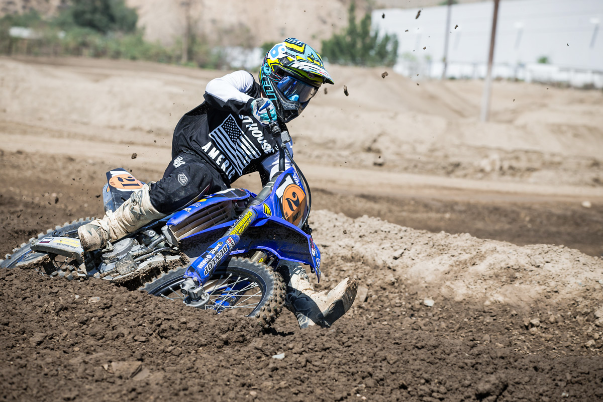 Brayton Walker was on fire aboard his YZ250F.