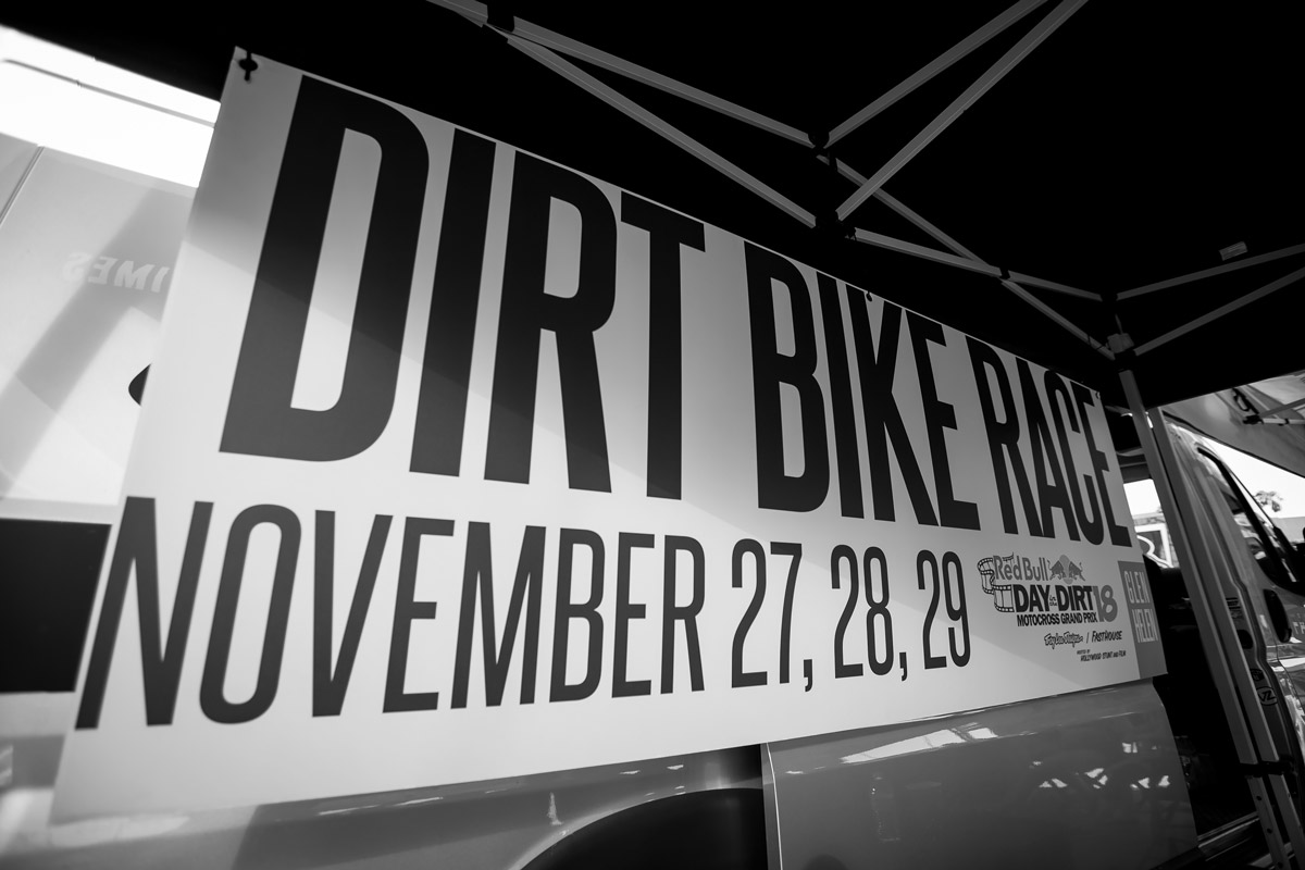 There's a dirt bike race coming up...