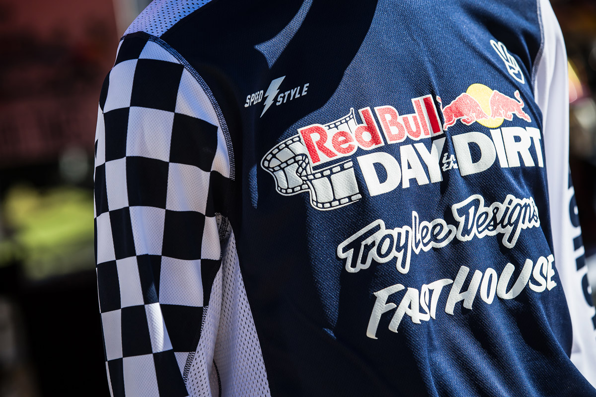 The new Red Bull Day In The Dirt jersey.