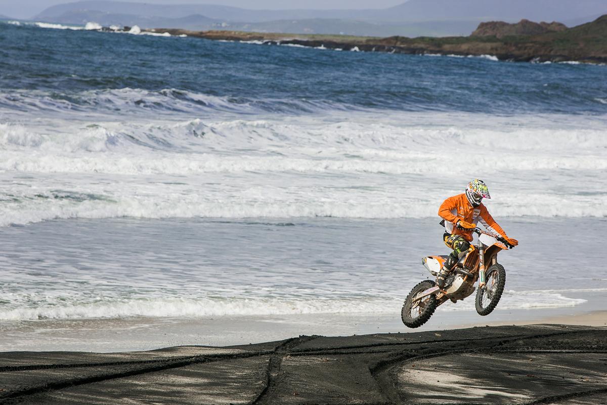 Kurt having fun on a beach down in Baja.