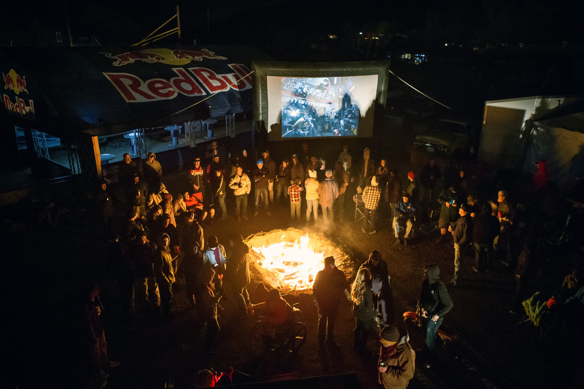 The Evel movie played on the big screen Friday night.