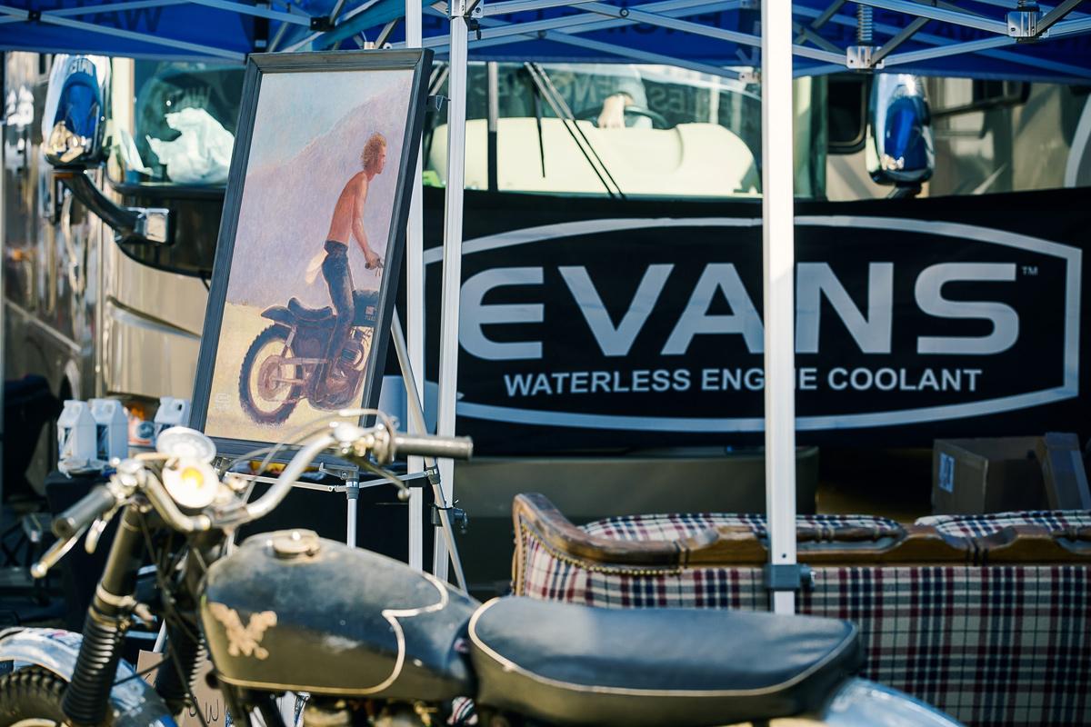 Evans Coolant raffled off this rad Steve McQueen painting.