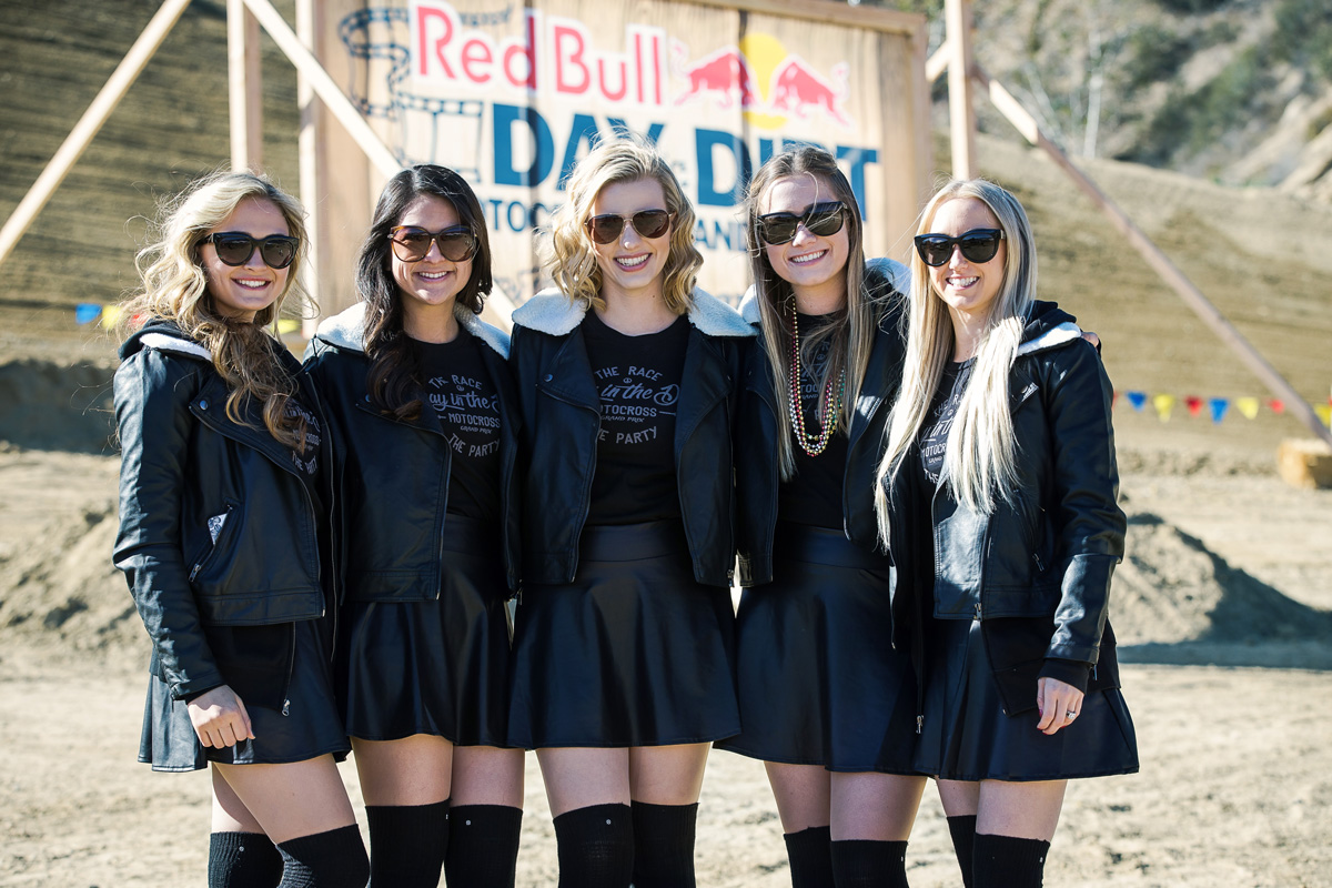 The Red Bull Day In The Dirt girls were everywhere.